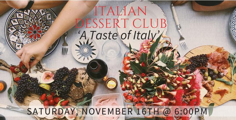 Italian Dessert Club | Woodstock Inn B&B